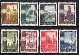 Timbres Neufs** D'autriche, N°666-673 Yt, Foire De Printemps De Vienne, Moisson, Mine De Charbon, Aciérie, ... - 1945-60 Neufs