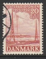 Denmark 1950 The 25th Anniversary Of Radio Broadcasting In Denmark 20 Øre Red SW 318 O Used - Danemark