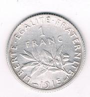 1 FRANC 1915 FRANKRIJK /1584/ - H. 1 Franc