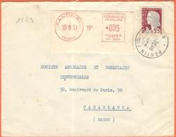 FRANCIA - France - 1961 - 0,05 EMA, Red Cancel + 0,25 Marianne De Decaris - Viaggiata Da Pantin Per Casablanca, Marocco - Storia Postale