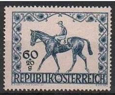 Timbres Neufs** D'autriche, N°674 Yt, Derby Hippique De Vienne, Cheval - 1945-60 Neufs