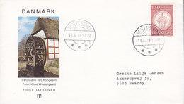 Denmark Brotype IId VEJERS STRAND (Sn.1) 1979 Cover Brief SCARCE Cds. Water Mill Wasser Mühle Moulin Cachet - Dänemark