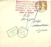 Streifband 26  Zürich - Oetwil Am See  (Abgereist)            1910 - Entiers Postaux