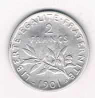 2 FRANC 1901 FRANKRIJK /1585/ - I. 2 Francs