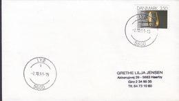 Denmark Deluxe LYØ 1991 Cover Brief Chair Stuhl Stamp - Dänemark