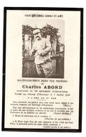 Souvenir Deces Poilus Nevers 13 ème R.I Capitaine Abord Charles - Devotion Images