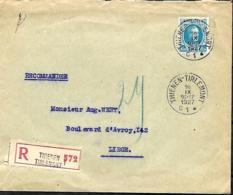 Belgique. TP 207a  L. Rec. Tienen >Liège   1927 - 1922-1927 Houyoux