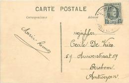 Belgique. TP 193  CPI Bruxelles Q.L. > Berchem (Antw.)  19?   Perfin C   Comptoir Commercial Anversois - 1922-1927 Houyoux