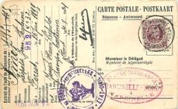 Belgique. TP  195 CP Forest Bxl > Marcinelle  1924   Perfin C.M./N.   Charbonnages De Marcinelle-Nord - 1922-1927 Houyoux