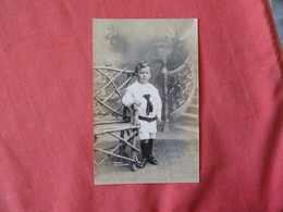 RPPC  Young Boy  --French Wellington ?? New Zealand    Ref 3177 - To Identify