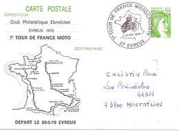 1979 MOTO: Tour De France Motocycliste :départ D'Evreux - Moto