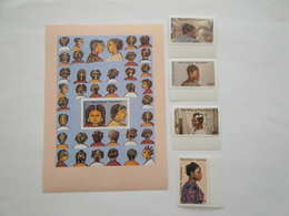 1988 Togo Yv 1250/3 + BF 275 ** MNH  Coiffures Togolaises  Cote 11.50 € Michel 2088/1 + B 309 Scott 1498/02 - Togo (1960-...)