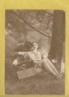2400 * Couple D'Amoureux* Carte Photo érotique !! * Foret Au Bord D'un Lac* Weber Par A C Lyna Paris* Rare (recto-verso) - Coppie