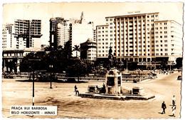 BELO HORIZONTE - MINAS : PRAÇA RUI BARBOSA - CARTE VRAIE PHOTO / REAL PHOTO POSTCARD - ANNÉE / YEAR ~ 1960 (aa572) - Belo Horizonte