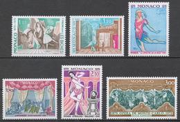 Monaco 1384-89** CENTENARY OF THE SALLE GARNIER, MONTE CARLO OPERA - Monaco