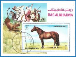 Ras Al-Khaima 1972 Year, Used Block - Ras Al-Khaimah