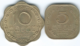 Sri Lanka - 1975 - 5 Cents (KM139) & 10 Cents (KM140) - Sri Lanka
