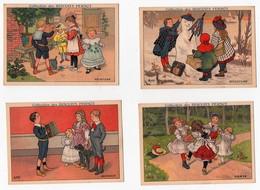 Chromo Collection Des Biscuits Pernot Enfants Jeu Sculpture Musique Danse Peinture (4 Chromos) - Pernot