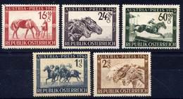 Timbres Neufs** D'autriche, N°648-652 Yt, Grand Prix Hippique Austria à Vienne, Cheval - 1945-60 Neufs