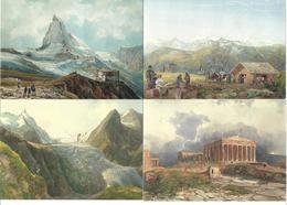 1695g: 7 AKs Thomas Ender (1793-1875), Ungelaufen - Illustrateurs & Photographes