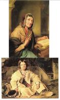1695f: 2 AKs Franz Eybl, Um 1840, Ungelaufen - Illustrateurs & Photographes
