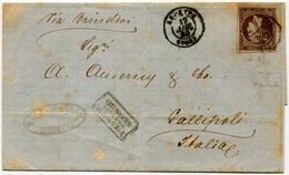 1880 Corfu To Gallipoli, Italy. Piroscafo Postali - 1861-86 Grands Hermes