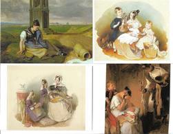 1695l: 4 AKs Peter Fendi (1796-1842), Ungelaufen - Illustrateurs & Photographes