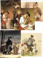 1695k: 5 AKs Peter Fendi (1796-1842), Ungelaufen - Illustrateurs & Photographes