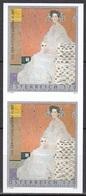 Color Print Pair, Austria Sc2388 Painting, Portrait, Gustav Klimt (1862-1918), Peinture - Art