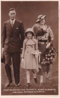 KING GEORGE V1, QUEEN ELIZABETH AND PRINCESS ELIZABETH - Royal Families