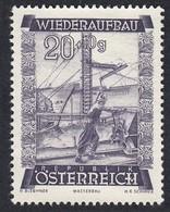 Timbres Neufs** D'autriche, N°713 Yt, Au Profit De La Reconstruction,  Barrage, - 1945-60 Neufs