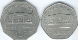 Sri Lanka - 1976 - Non-alligned Nations Conference - 2 & 5 Rupees (KM142 & KM143) - Sri Lanka