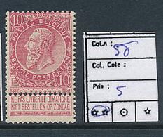 BELGIQUE COB 58 MNH - 1893-1800 Fijne Baard