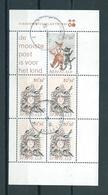 1982 Netherlands Complete M/Sheet Child Welfare Used/gebruikt/oblitere - Blokken