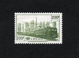 BELGIE 1953 SP 334 GROEN MLH* PAS DE CHARNIERE ZONDER PLAKKER VF GOMME ORIGINE POSTALE - Chemins De Fer