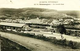 7051 -   Cantal -  NEUSSARGUES  :  LA  NOUVELLE  GARE    Circulée - France