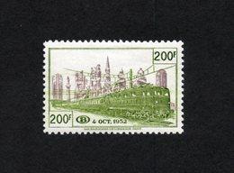 BELGIE 1953 SP 335 GROEN BRUIN MLH* PAS DE CHARNIERE ZONDER PLAKKER VF GOMME ORIGINE POSTALE - Chemins De Fer