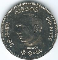 Sri Lanka - 1978 - 1 Rupee - Inauguration Of President Jayewardene - KM144 - Proof Edition - Sri Lanka