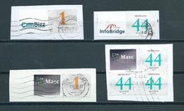 2007/2010 Netherlands 4x Op Papier/on Fragment Used/gebruikt/oblitere - Nederland