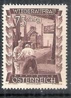 Timbres Neufs** D'autriche, N°718 Yt, Au Profit De La Reconstruction,  Industries - 1945-60 Neufs