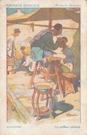ILLUSTRATEUR GERVESE CROQUIS D ESCALE MESSAGERIES MARITIMES SINGAPORE LE COIFFEUR CHINOIS - Gervese, H.