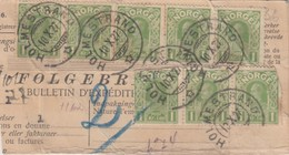 COVER. LETTRE. PART. NORGE.1921. BULLETIN EXPEDITION COLIS POSTAL HOLMESTRAND - Francobolli