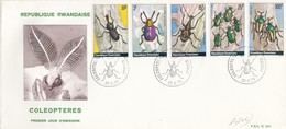 COVER. LETTRE. INSECT. RWANDA. FDC COLEOPTERES - Unclassified