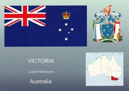 1 AK Australien Victoria * Die Flagge, Das Wappen, Und Die Postion Von Victoria In Australien * - Australie