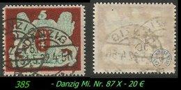 Mi. Nr. 87 X Gebraucht - Geprüft - Danzig