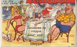 La Vie Est Belle - Soulevez La Nappe Pour Voir DIEPPE (Carte à Système) - Dieppe