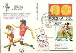 Poland, WC 1986, Olympic Games-72, RED OVERPRINTED Card - 1986 – Mexico
