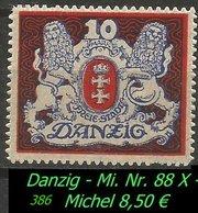 Mi. Nr. 88 X Postfrisch - Danzig