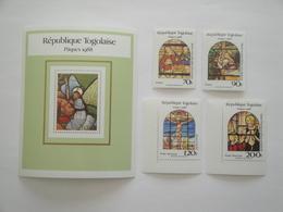 1988 Togo Yv 1228/9 + PA 649/0 + BF 265 ** MNH Pâques Easter  Cote 12.00 € Michel 2066/9 + B 305 Scott 1457/61 - Togo (1960-...)