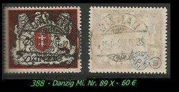 Mi. Nr. 89 X - Gebraucht - Geprüft - Danzig
